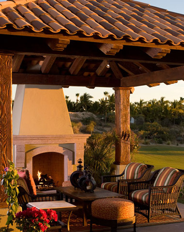 BBQ Pavilion Overlooking Golf Course in Los Cabos