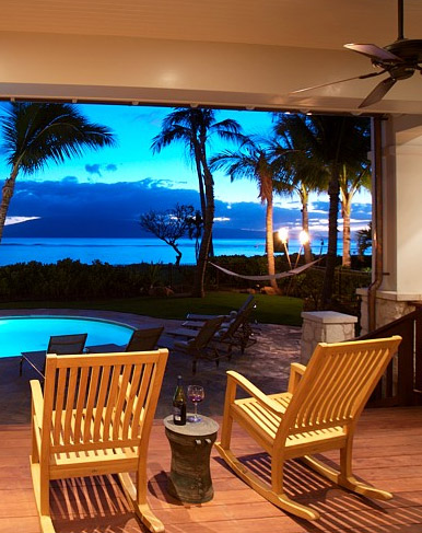Experience Hawaii Overlooking the Ocean at Dusk